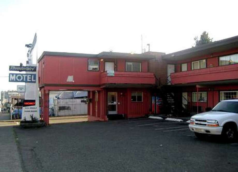The Fremont Inn, formerly the Thunderbird Motel, 4251 Aurora Ave. N., is seen in this August 2009 file photo. (Casey McNerthney/Seattlepi.com file) Photo: /