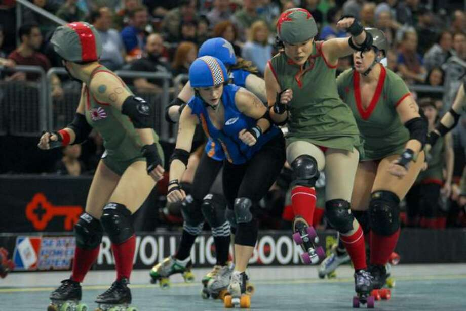 "A May 1 roller derby ""bout"" at KeyArena. (Photo by Chris Jones) Photo: /"