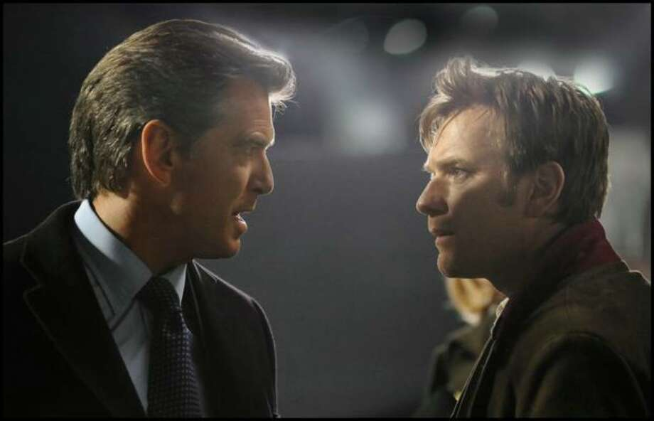 """Pierce Brosnan, left, and Ewan McGregor are shown during the filming of """"The Ghost Writer."""" (AP Photo/Summit Entertainment, Guy Farrandis) Photo: / Associated Press"""