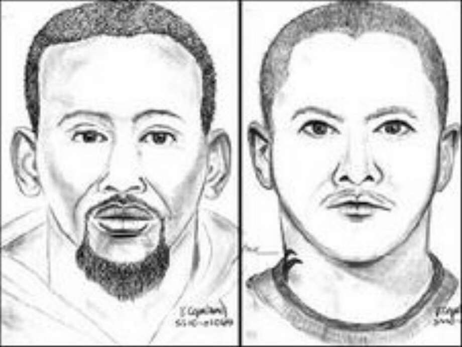 The man on the left was described as mixed race (Asian/African-American), 18 to 24 years old, 5 feet 10 inches tall, thin build, and had a tattoo on his neck. The man on the right was described as black, 18 to 24 years old, 5 feet 6 inches tall, with a goatee and a thin build. Photo: /