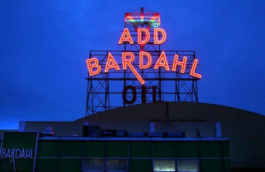 Bardahl neon sign in Ballard. Photo: Joshua Trujillo/seattlepi.com