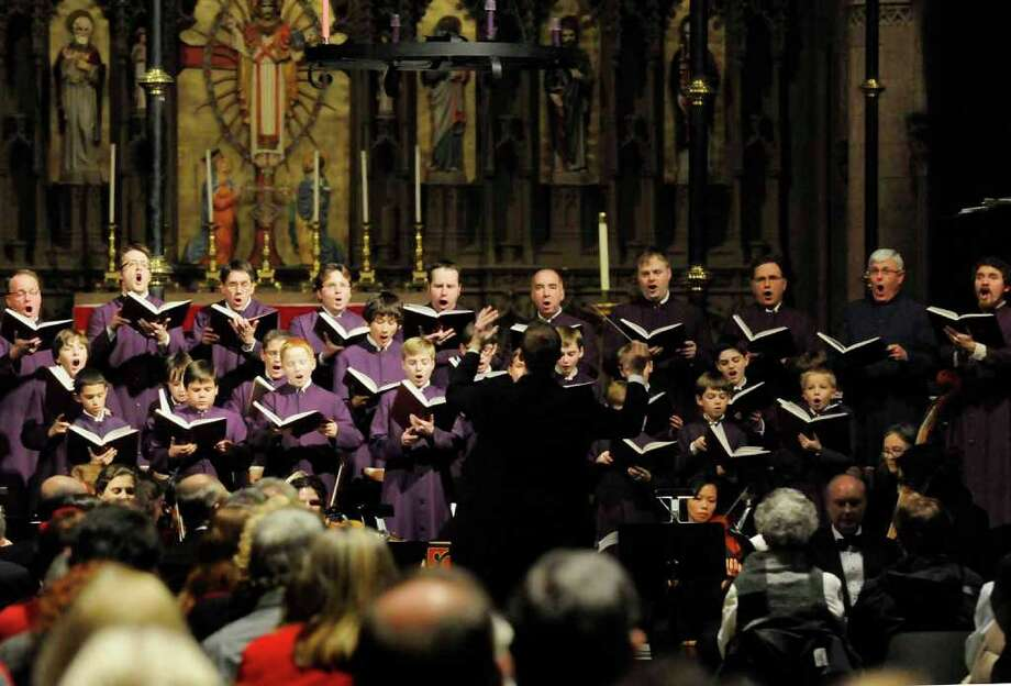 "The Cathedral Choir of Men and Boys, under the direction of Woodrow Bynum,  present easonal favorite  Handel's ""Messiah"" at the Cathedral of All Saints in Albany, Dec. 14, 2010. (Michael P. Farrell / Times Union) Photo: Michael P. Farrell"