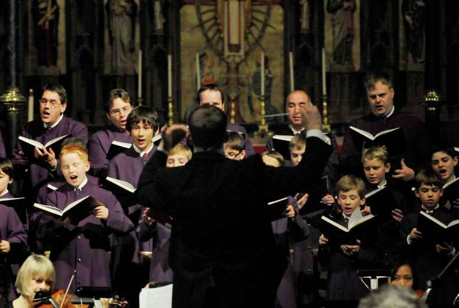 "The Cathedral Choir of Men and Boys present Handel's ""Messiah"" at the Cathedral of All Saints in Albany, Dec. 14, 2010. (Michael P. Farrell / Times Union) Photo: Michael P. Farrell"