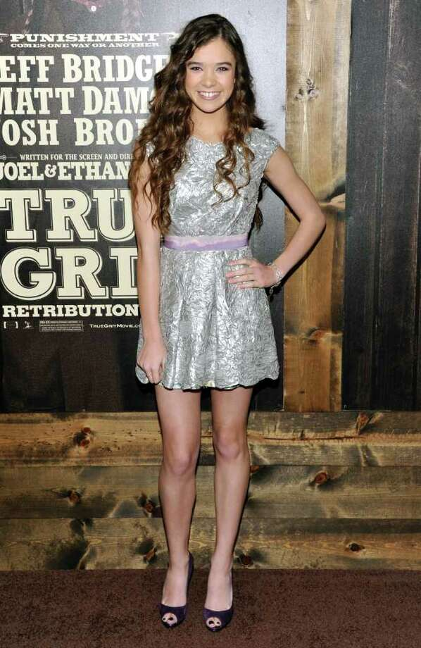 Actress Hailee Steinfeld attends the premiere of 'True Grit' at the Ziegfeld Theatre on Tuesday, Dec. 14, 2010 in New York. (AP Photo/Evan Agostini) Photo: Evan Agostini