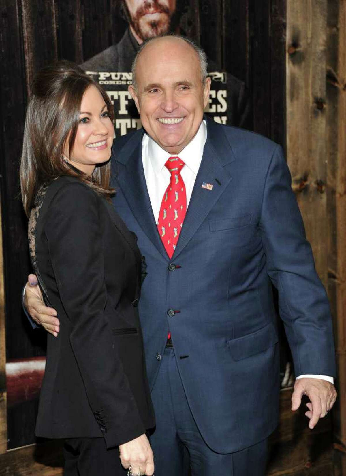 Rudolph Giuliani and wife Judith attend the premiere of 'True Grit' at the Ziegfeld Theatre on Tuesday, Dec. 14, 2010 in New York. (AP Photo/Evan Agostini)