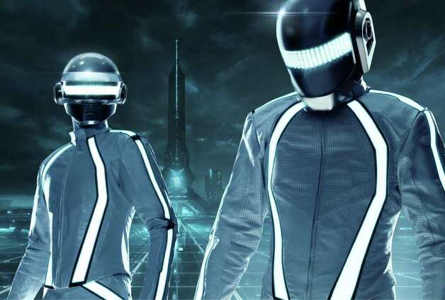 "The French duo Daft Punk perform the score for ""TRON: Legacy"""