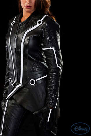 "UD Replicas makes motorcycle suits for men and women based on ""TRON: Legacy"" costumes."