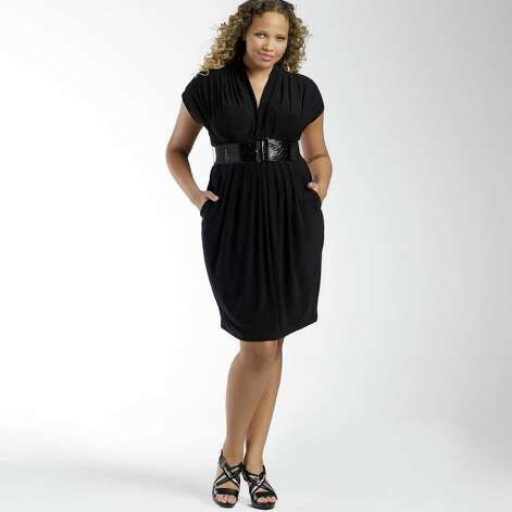 Bisou Bisou for JCPenney black plus-size dress, $59.99, at ...