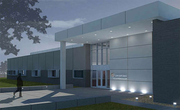 An artist rendering of the new emergency dispatch center being built at Brooks City-Base.