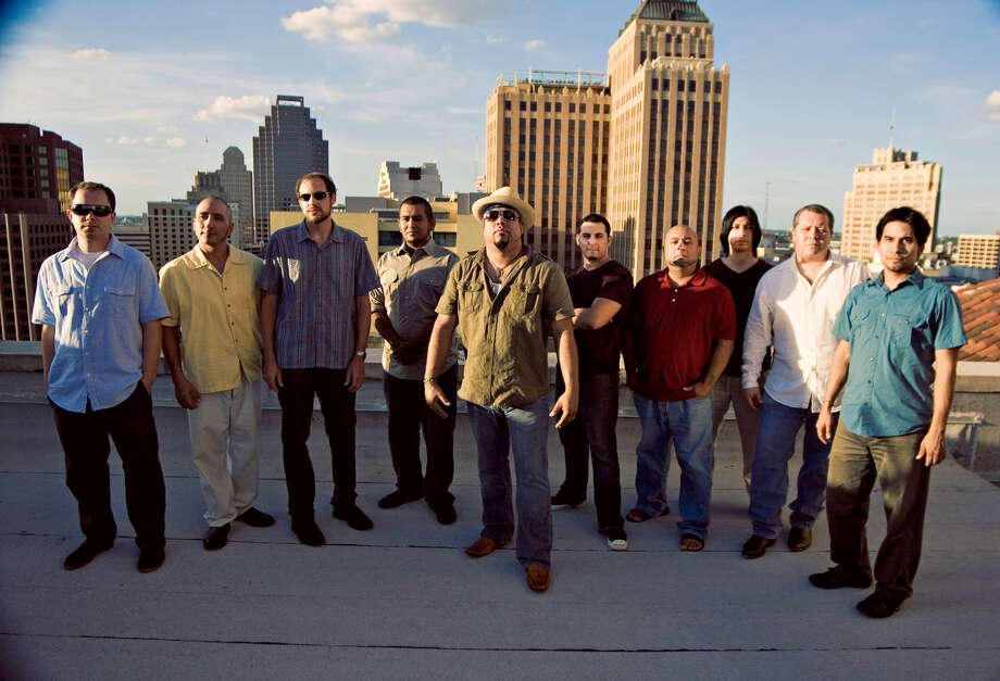 "San Antonio ""barrio big band"" Bombasta plays a holiday gig Saturday at Boneshakers. It's free. COURTESY PHOTO"