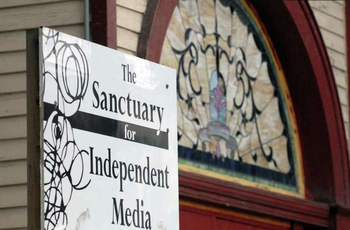 The Sanctuary for Independent Media in Troy is celebrating five years in existence. (Michael P. Farrell / Times Union)