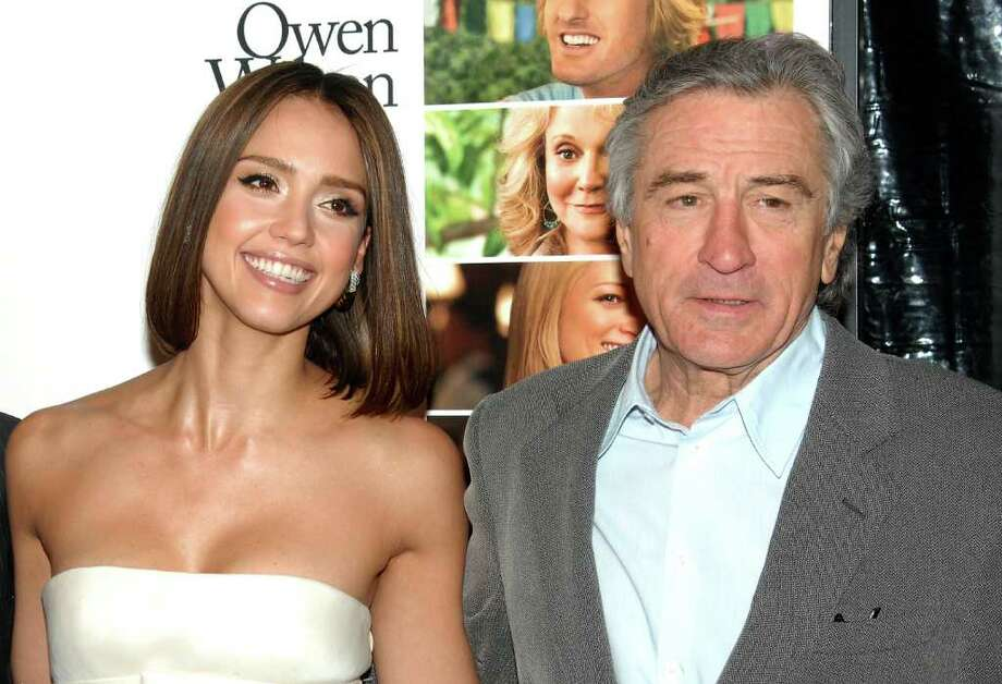 "Actors Jessica Alba and Robert De Niro attend the premiere of ""Little Fockers"" at The Ziegfeld Theater in New York, on Wednesday, Dec. 15, 2010. (AP Photo/Peter Kramer) Photo: Peter Kramer"
