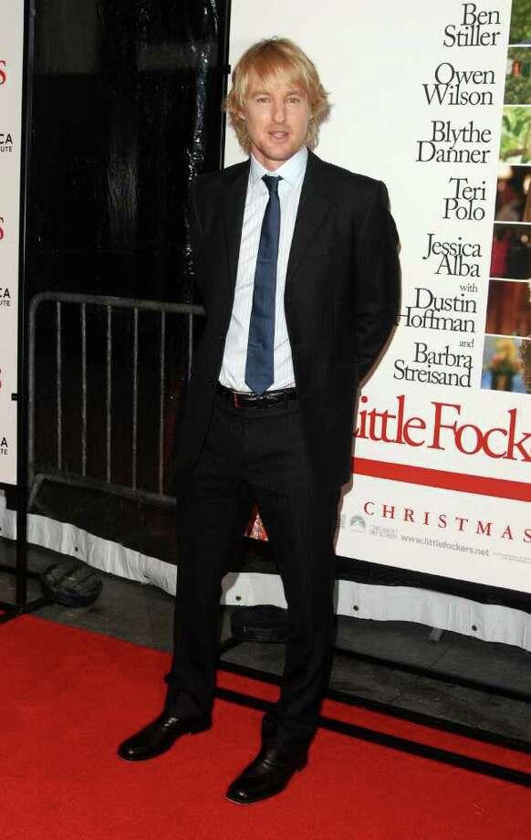 "Actor Owen Wilson attends the premiere of ""Little Fockers"" at The Ziegfeld Theater in New York, on Wednesday, Dec. 15, 2010. (AP Photo/Peter Kramer) Photo: Peter Kramer"