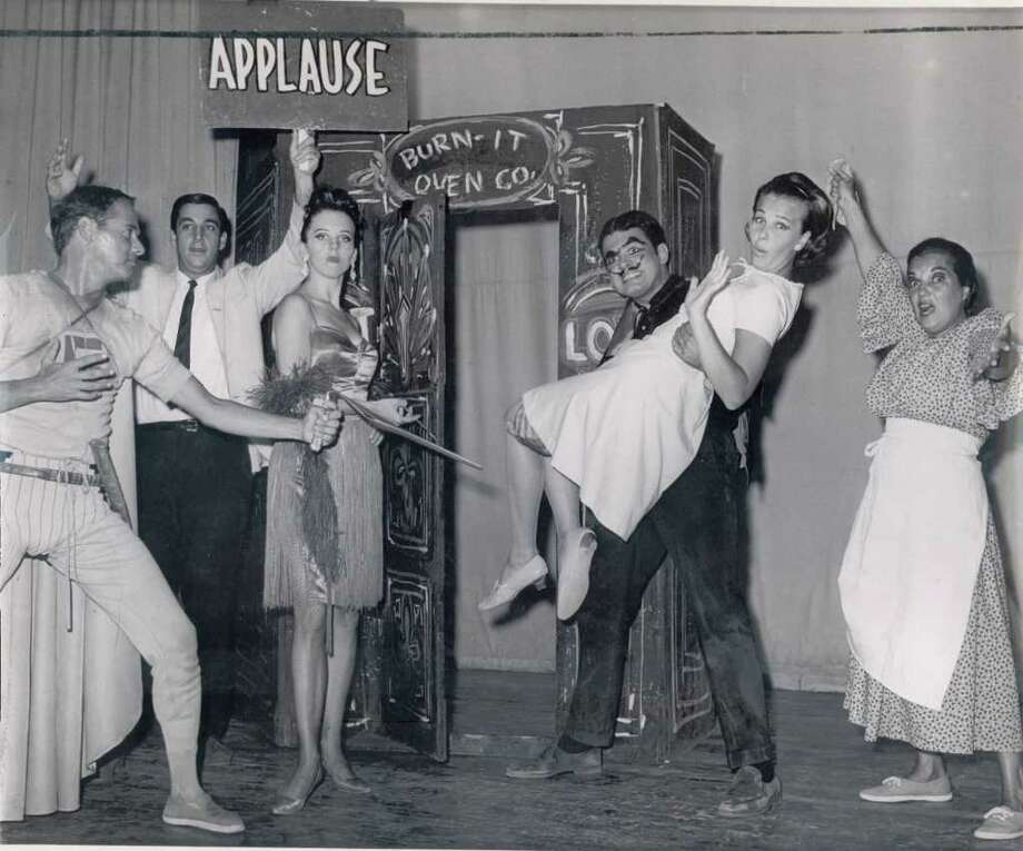 Performers act out a skit at Gaslight Village on August 9, 1966.