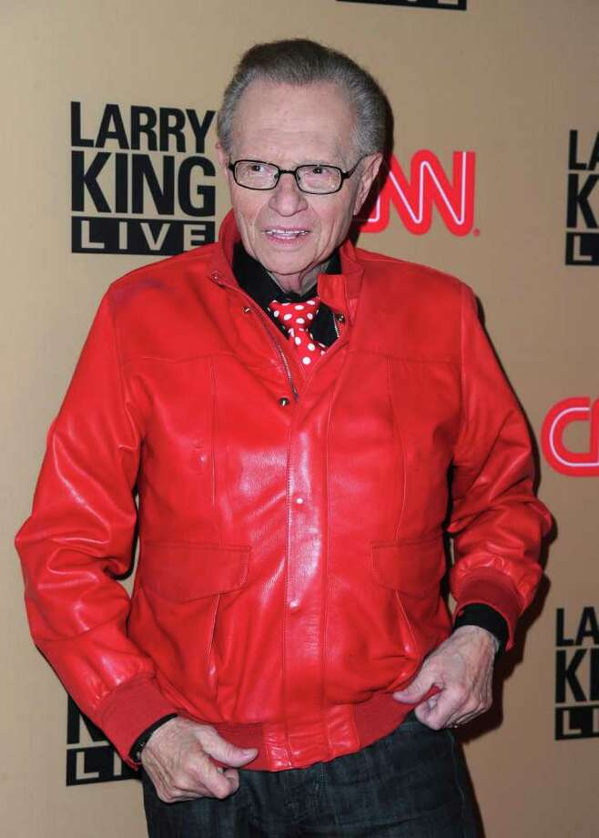 "BEVERLY HILLS, CA - DECEMBER 16:  TV host Larry King arrives at CNN's ""Larry King Live"" final broadcast party at Spago restaurant on December 16, 2010 in Beverly Hills, California.  (Photo by Alberto E. Rodriguez/Getty Images) *** Local Caption *** Larry King Photo: Alberto E. Rodriguez, Getty Images / 2010 Getty Images"