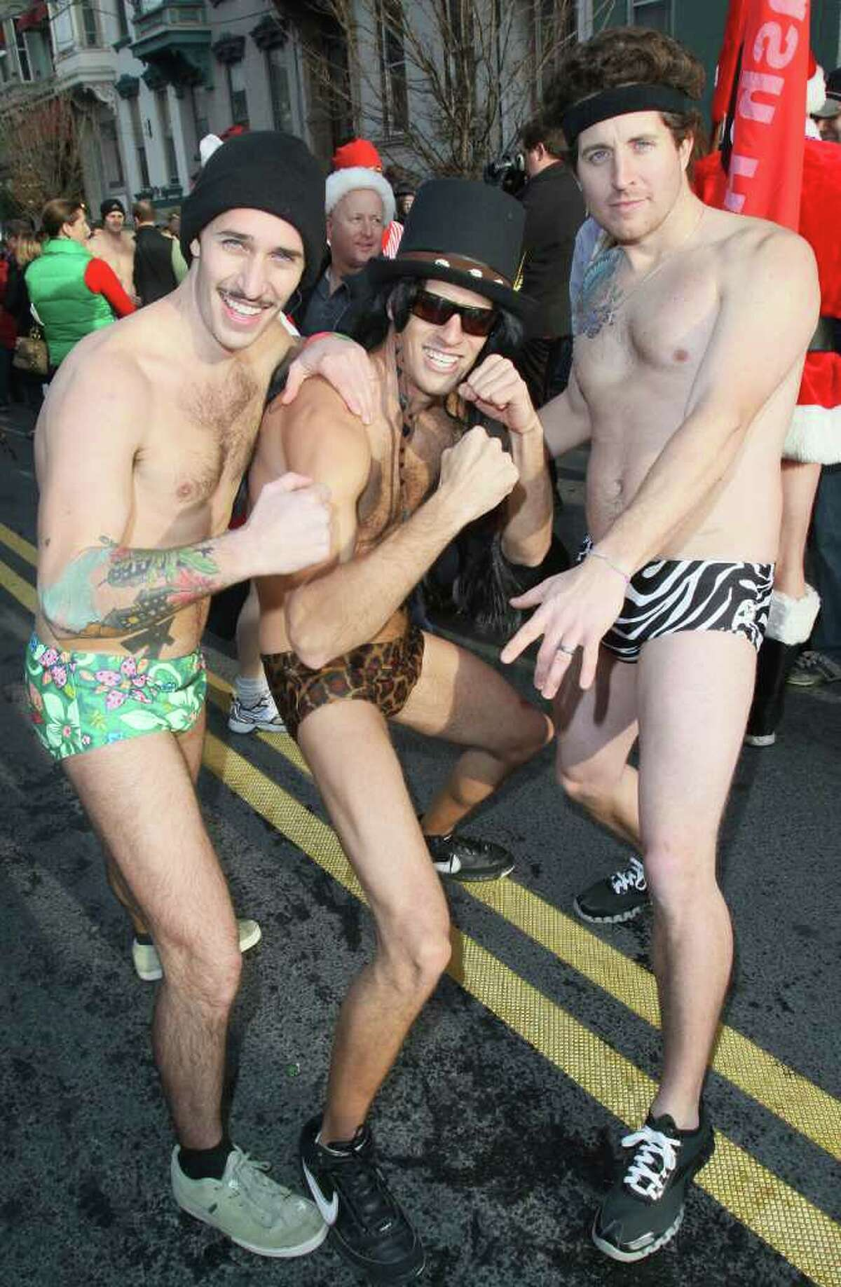 Were you Seen showing off race wear after finishing the Santa Speedo Sprint, a benefit for the Albany Damien Center. (Joe Putrock / Special to the Times Union)