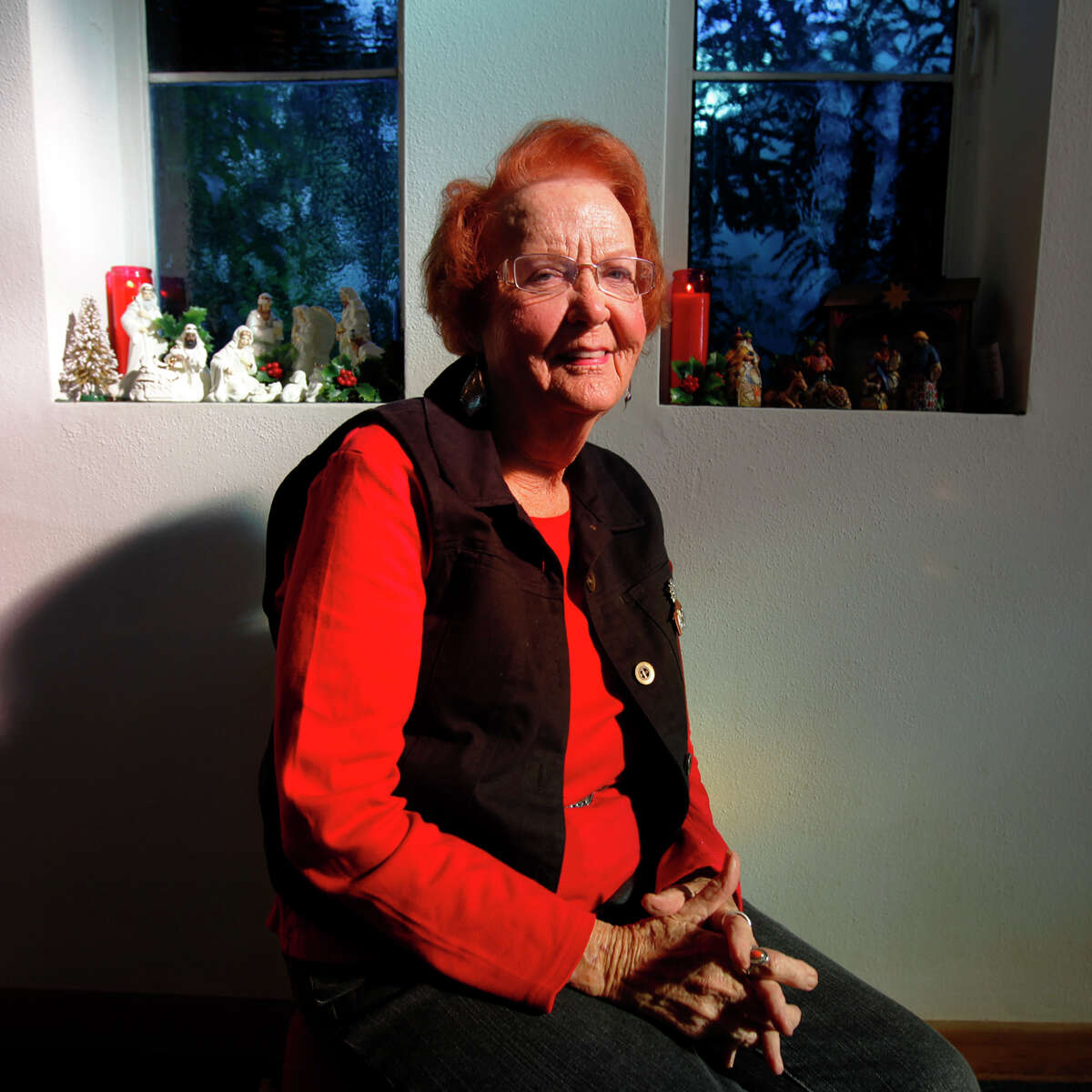 Lorraine Rogers, 81, has been a member of Beacon Hill Presbyterian Church since 1957. Rogers has also collected Nativity scenes from around the world for over 60 years. During Advent and through Christmas, Rogers and the church has on display over 100 Nativity scenes most of which belong to Rogers. The Nativity scenes will remain on display for several weeks after Christmas according to Rogers. (Kin Man Hui/kmhui@express-news.net)