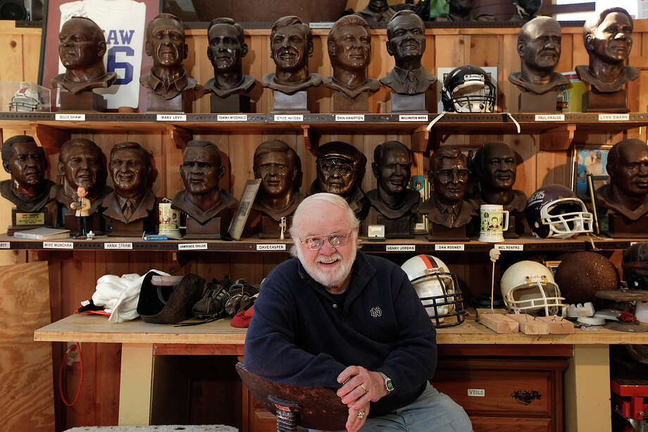 Rows of busts look out over sculptor Jerry McKenna — including his self-portrait, directly behind him. PHOTOS BY JERRY LARA