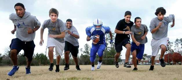 The Community Christian School is building a six man football team from scratch at the school in Orange, Thursday. Tammy McKinley/The Enterprise Photo: TAMMY MCKINLEY / Beaumont