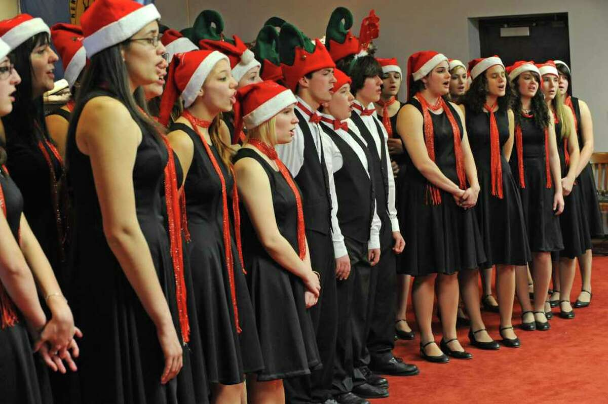 The Lansingburgh Soundwaves perform for children of the Vanderheyden Hall youth residential facility during the Vanderheyden Christmas party at the chambers of the Rensselaer County Legislature in Troy , NY, on December 17, 2010. (Lori Van Buren / Times Union)