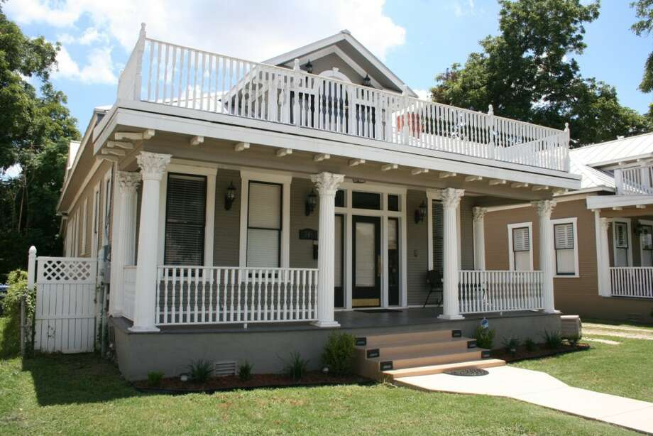 Built in 1920, this four-bedroom, three-bathroom home is steps away from the River Walk and has an upstairs balcony with a view of downtown San Antonio. Historic features include a stone fireplace and a coffered ceiling. The house, at 206 E. Arsenal St., has off-street parking with room for a garage. The 2,409-square-foot home is priced at $415,000.