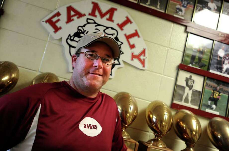 Coach Mike Bickham poses for a portrait at Jasper High School in Jasper, Tuesday.  Tammy McKinley, The Enterprise Photo: TAMMY MCKINLEY / Beaumont