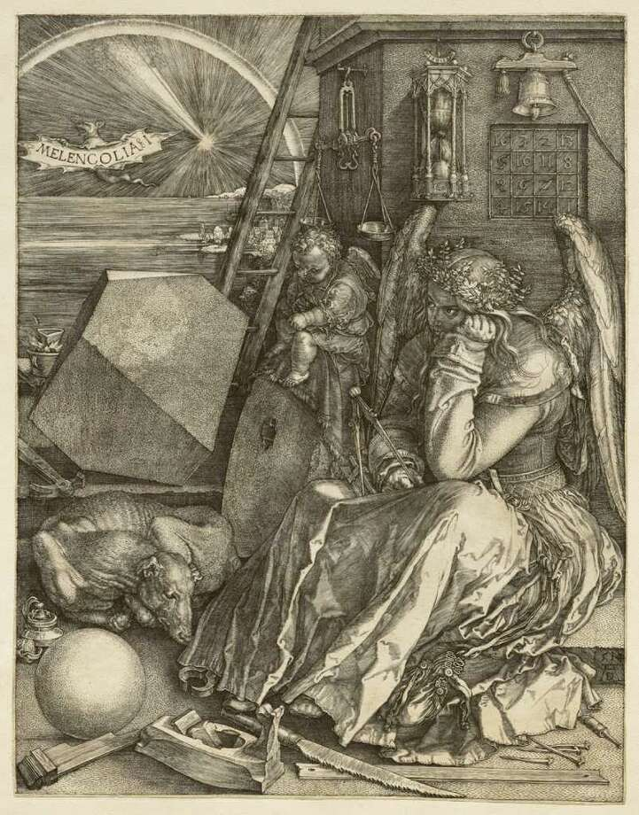 """Melancholia I"" (1514) by Albrecht Durer (Sterling and Francine Clark Art Institute)"