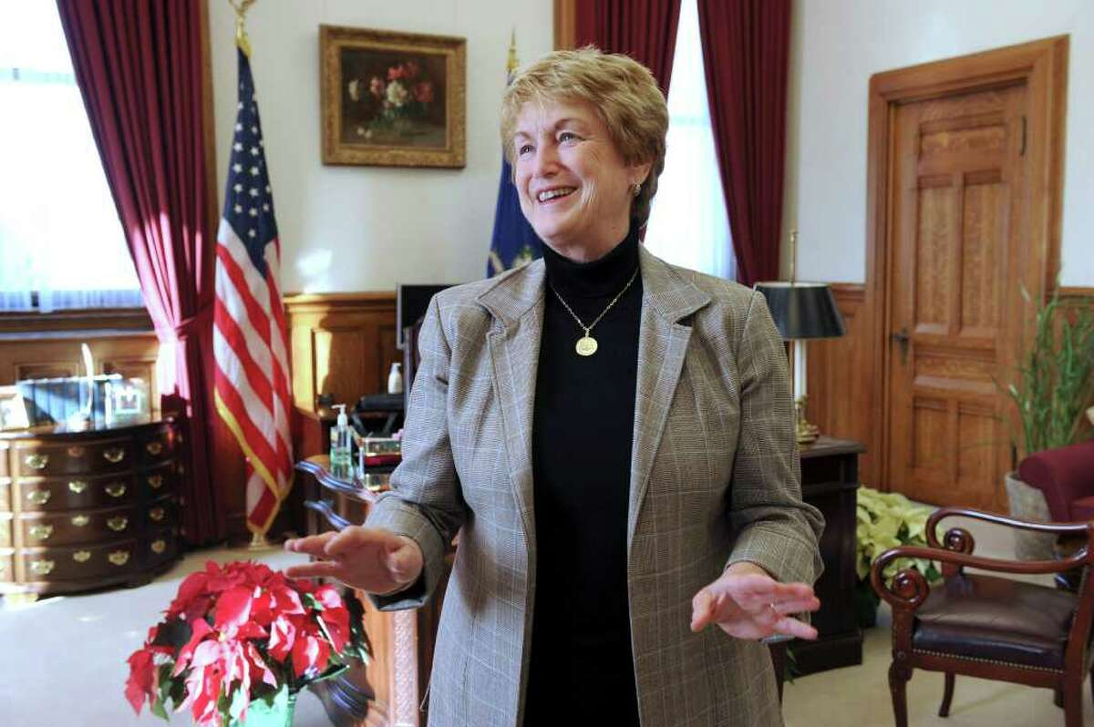 Gov. M. Jodi Rell is photographed in her office at the Captial in Hartford Tuesday, Dec. 14, 2010.