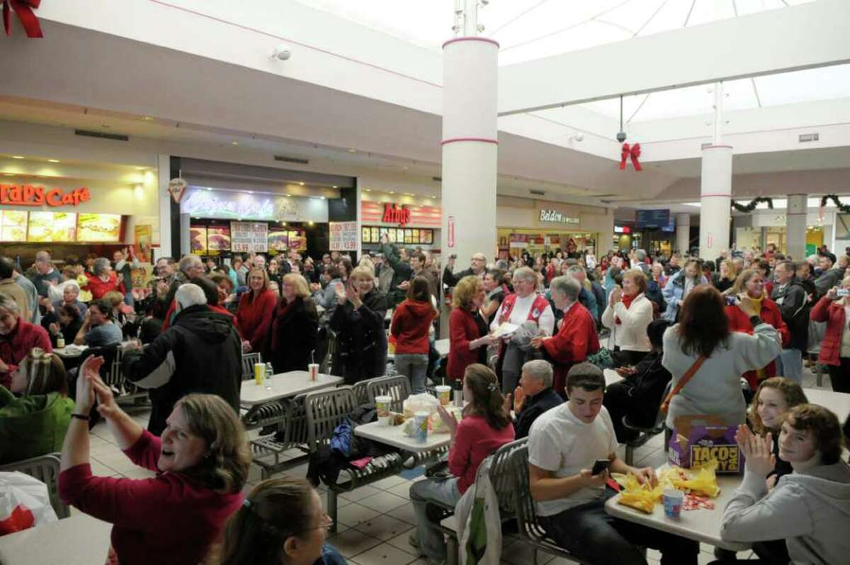 The Crosssgates Mall food court during a 2010 event when a flash mob performed the