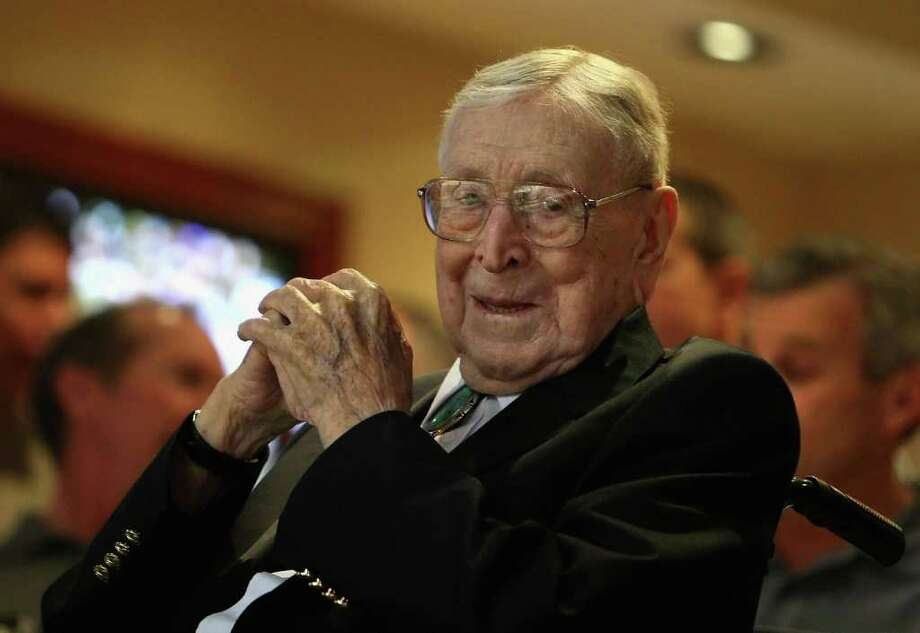 Former UCLA college basketball coach John Wooden died June 4 at 99. Photo: Christian Petersen, Getty Images / Getty Images