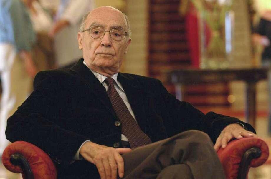 Portuguese nobel Prize winner Jose Saramago died June 18 at 87. Photo: Ander Gillenea, Getty Images / Getty Images