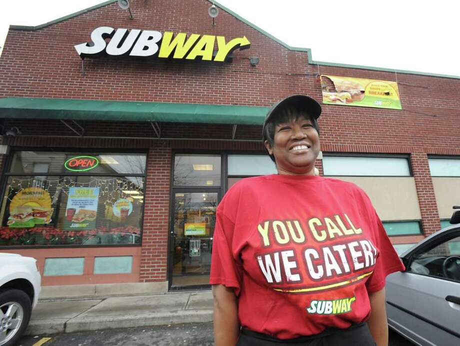 Store owner Wanda Austin-Peters stands outside the Subway store on Henry Johnson Blvd. in Albany, NY on December 13, 2010.  (Lori Van Buren / Times Union) Photo: Lori Van Buren