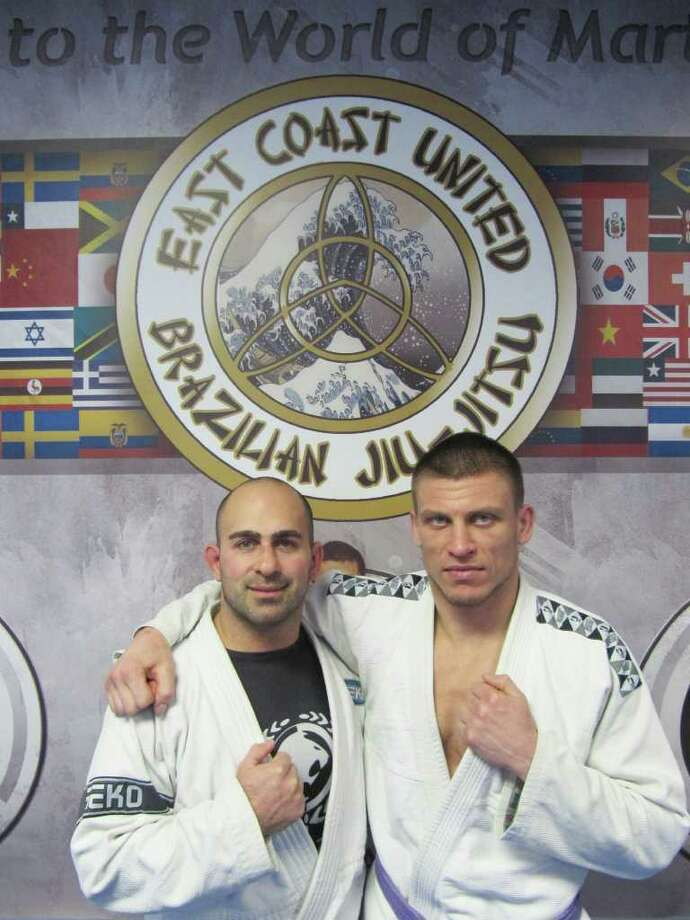 Pictured is Joe Oppedisano and Alex Nechaev, co-owners of East Coast United, a new martial arts studio and fitness center in Fairfield, CT. Photo: Kirk Lang / Fairfield Citizen