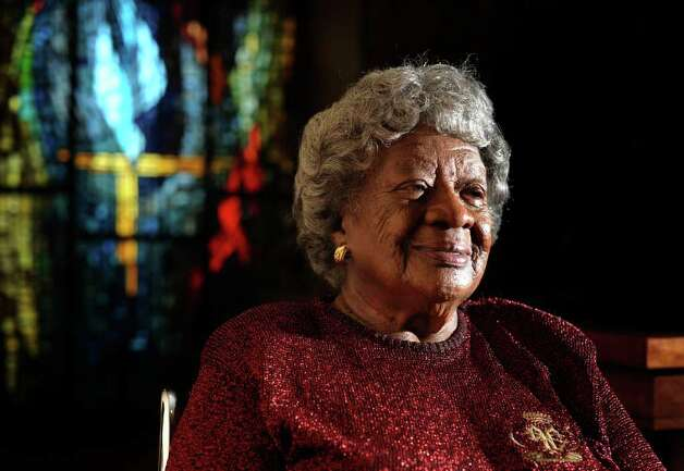 Helen Cloud Austin, a resident of Morningside Ministries, was mentored by Martin Luther King Jr., when she was a member of a civil rights movement group at the University of Louisville in the 1950s. She was denied a job at the San Antonio State Hospital in 1962 because of a no-blacks-hired policy, and was the first black professional hired at the hospital three years later. Jan. 26, 2010. Photo: BILLY CALZADA, SAN ANTONIO EXPRESS-NEWS / gcalzada@express-news.net