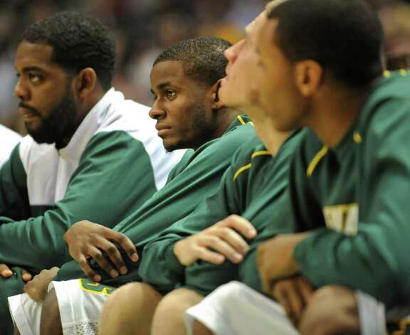 Siena's Clarence Jackson sits out during a game against Georgia Tech at the Times Union Center in Albany, NY on December 22, 2010.  (Lori Van Buren / Times Union) Photo: Lori Van Buren