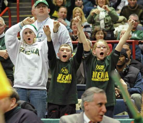 Siena fans cheer during a game against Georgia Tech at the Times Union Center in Albany, NY on December 22, 2010.  (Lori Van Buren / Times Union) Photo: Lori Van Buren