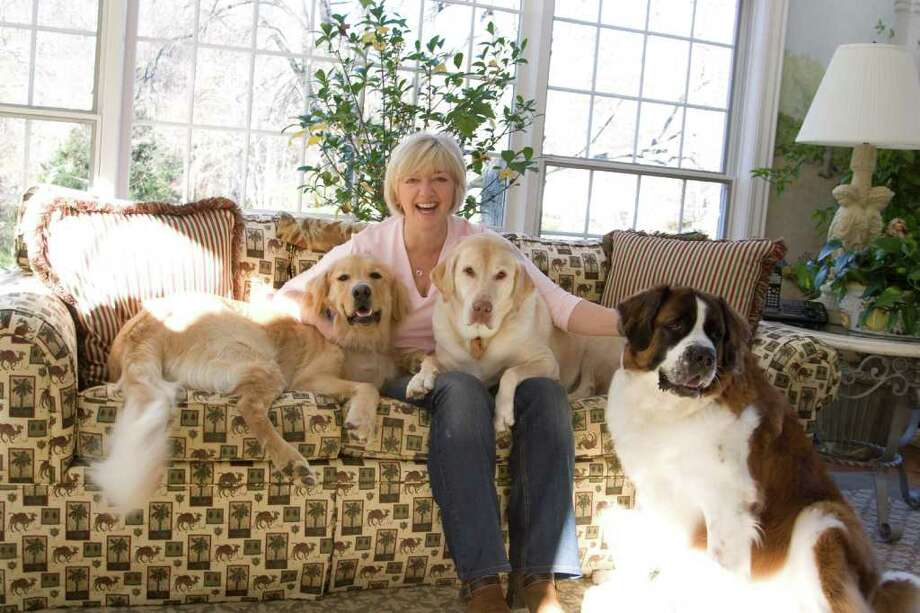 Cathy Kangas, of New Canaan, is helping to raise funds for Nowzad Dogs, a charity that aims to build shelters for stray and injured animals in Afghanistan and Iraq. Photo: Contributed Photo / Connecticut Post Contributed