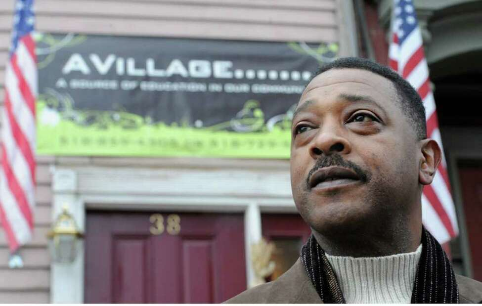 A serious personal injury at work and the senseless death of an Albany girl inspired Willie White to form a AVillage Inc., a grassroots group that works to improve conditions in his South End neighborhood in the city. White appears outside his Morton Avenue home in Albany.