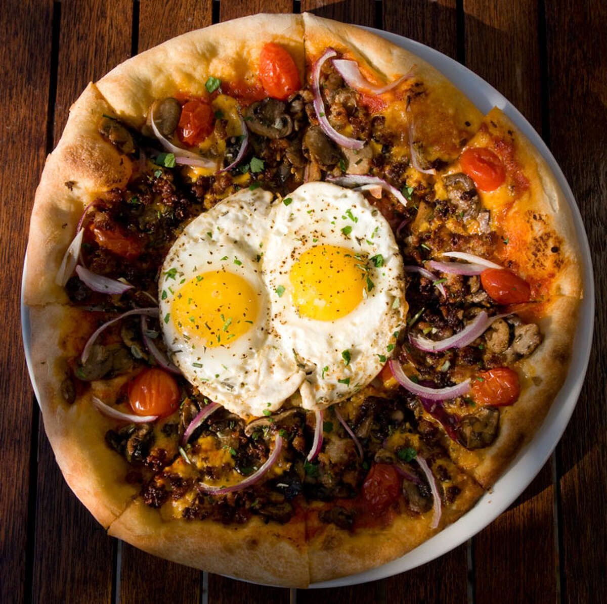Breakfast Pizza from Auden's Kitchen PHOTO BY ROBIN JERSTAD/SPECIAL TO THE EXPRESS-NEWS