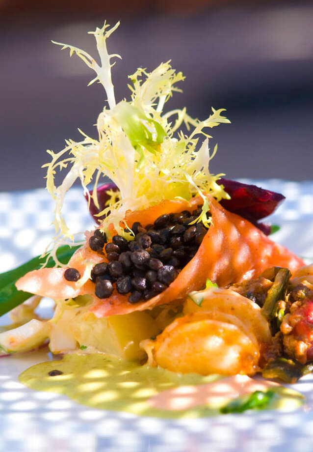Smoked salmon and caviar salad at the Grill at Leon Springs. PHOTO BY ROBIN JERSTAD/SPECIAL TO THE EXPRESS-NEWS