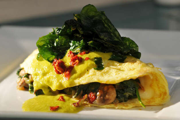 Espinacas omelet at La Fonda on Main PHOTO BY ROBIN JERSTAD/SPECIAL TO THE EXPRESS-NEWS