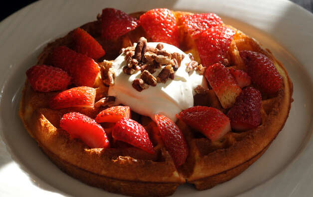 Strawberry Waffles at  Little Gretel.  Click here to read the story.PHOTO BY ROBIN JERSTAD/SPECIAL TO THE EXPRESS-NEWS