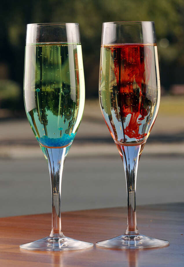 Martian Mimosa (left) and Cinnamon Snap Mimosa from Insignia PHOTO BY ROBIN JERSTAD/SPECIAL TO THE EXPRESS-NEWS