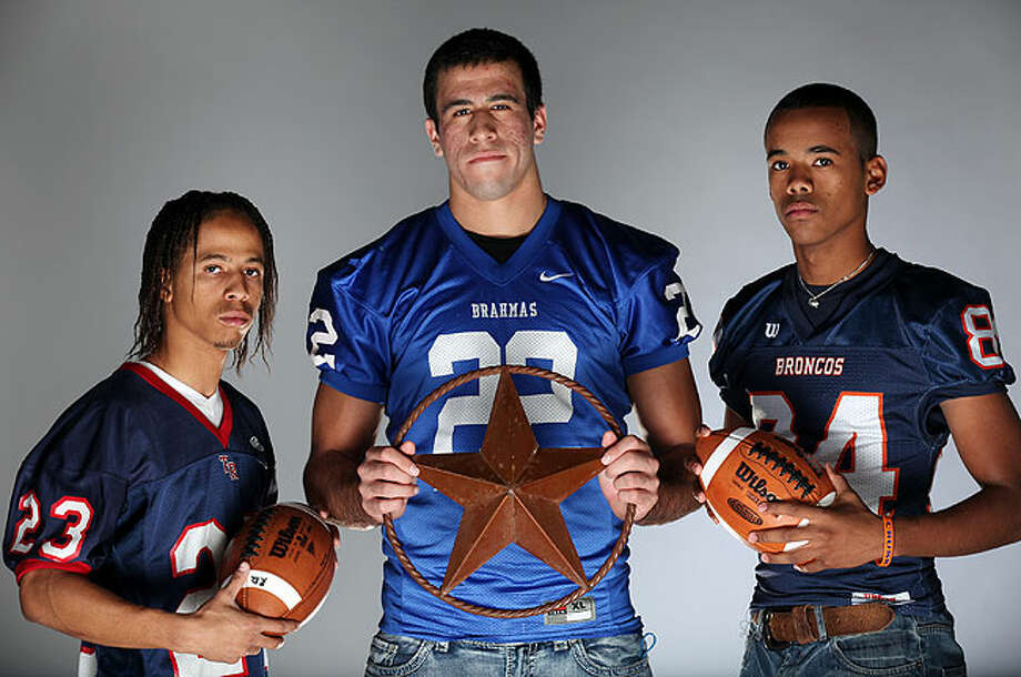Receivers (from left): Delvage McIntyre of Roosevelt, Jace Amaro of MacArthur and Devin Crayton of Brandeis. Photo: EDWARD A. ORNELAS/eaornelas@express-news.net