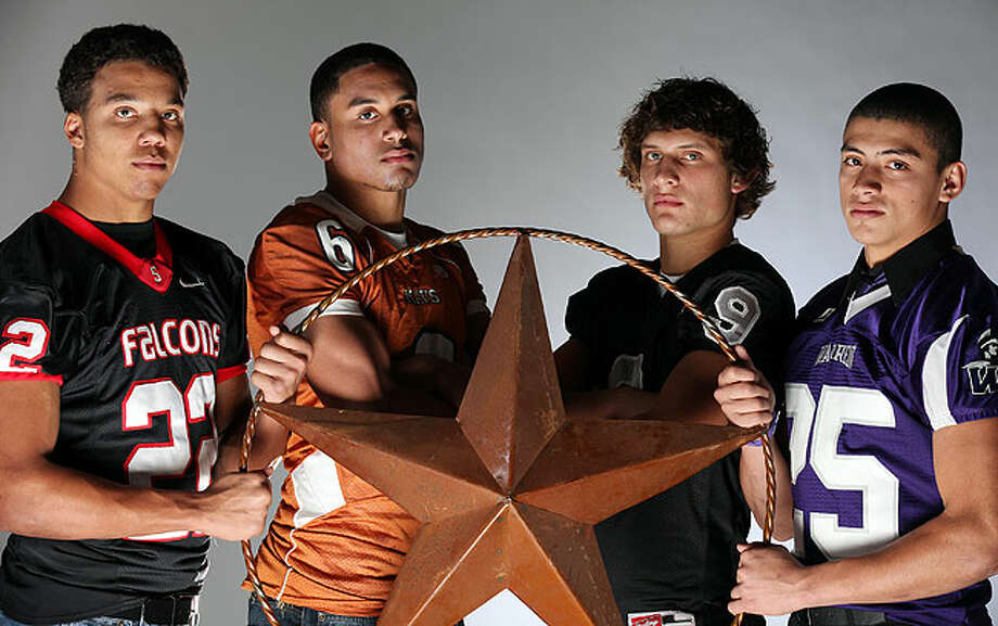 Area top secondary: (from left) Andrew Williamson of Stevens, Andre Wiggins of Madison, Shane Huhn of Steele and Mauricio Sanchez of Warren. Wiggins has committed to Wake Forest, Huhn to UTEP and Sanchez to UTSA. Photo: EDWARD A. ORNELAS/eaornelas@express-news.net