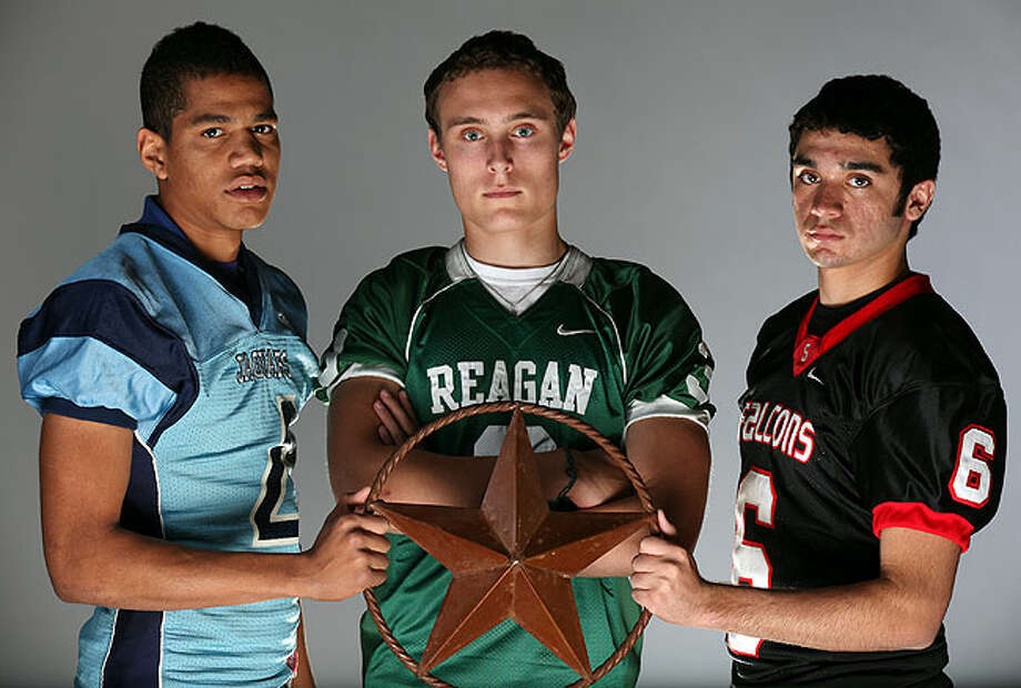 Specialists (from left): Zack Bradley of Johnson, Jake Wilcox of Reagan and Manuel Ramos of Stevens.
