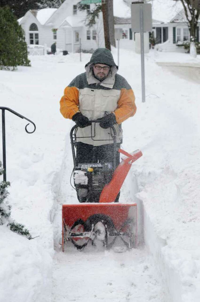 If you're using a snow thrower, keep your hands and feet clear of moving parts. Source:The American Red Cross