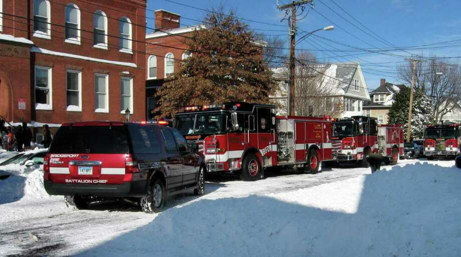 At 1:12 p.m Monday December 27, 2010,  fire department units were dispatched to an apartment building on Maplewood Ave. In Bridgeport, Conn. There were high levels of carbon monoxide in the building and three victims were taken to Bridgeport Hospital. It was determined the situation was caused by a faulty furnace. Photo: Contributed Photo\David Purcell, Contributed Photo\David Purcell   / Connecticut Post Contributed
