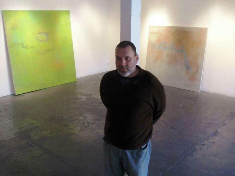 San Antonio artist Eduardo Daniel Rodriguez is showing new abstract paintings at Joan Grona Contemporary Art. Photo: Steve Bennett/Express-News
