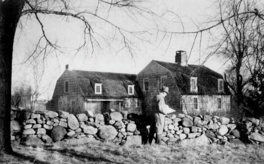 Contributed by the New Canaan Historical Society. Whitman Bailey sketching a house in New Canaan. Photo: Contributed Photo / Stamford Advocate Contributed